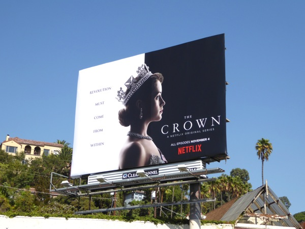 The Crown series premiere billboard
