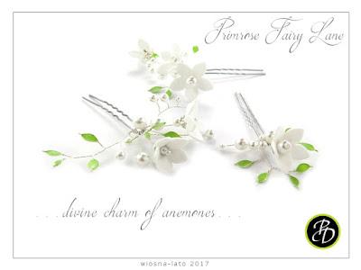 Kokówki ślubne anemony.