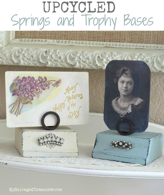 Upcycled springs and trophy bases