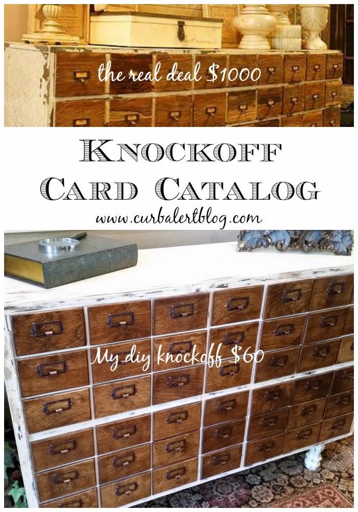 curb alert  diy knockoff card catalog knockoff tour 2