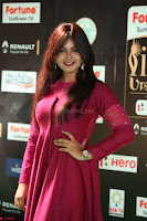 Monal Gajjar in Maroon Gown Stunning Cute Beauty at IIFA Utsavam Awards 2017 058.JPG