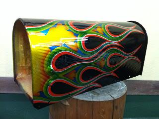 1438765321 - カスタムペイント工程 郵便ポスト 奈良フレイムス