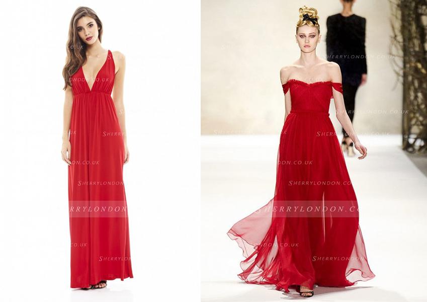 Vestidos para noite vermelhos