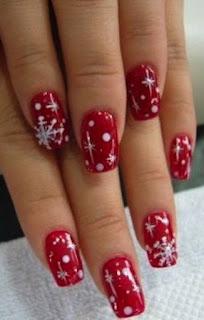 decoracion de uñas para navidad