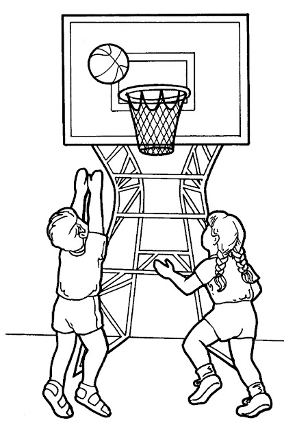 Basketball Game Coloring Pages