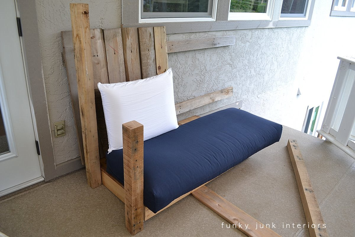 how to make a sofa bed from scratch brown orange set i built the pallet wood part 2 funky junk interiors