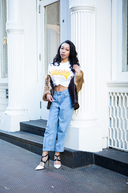 sade spence style blogger entertainment journalist reporter thrasher tee