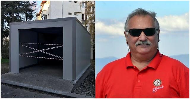 Consilierul local PSD Gheorghe Petrescu plătește 2 lei/mp/lună pentru terenul din centrul Sucevei unde își construiește un garaj