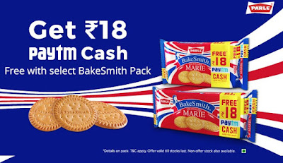 Free Paytm Cash- Get Rs. 18 Paytm Cash Free With BakeSmith Pack (Paytm - BakeSmith Offer)