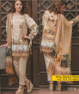 Carnation Luxury Lawn Collection by House of Rang Rasiya