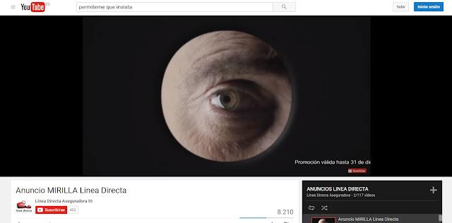 Matías Prats - Línea Directa - Anuncio mirilla - Youtube - Anuncios de Seguros que me hacen sentir inseguro - Publicidad - Campaña de Publicidad - ÁlvaroGP - Álvaro García - el troblogdita