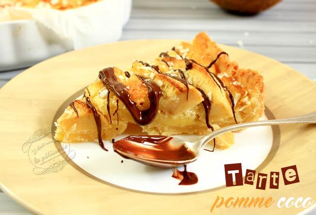 recette tarte pomme noix de coco