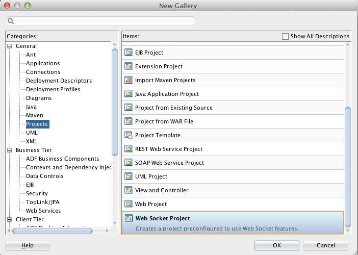ADF Practice: Using Java API for WebSockets in JDeveloper 12 1 3