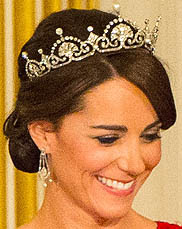 Lotus Flower Tiara United Kingdom Duchess Catherine Cambridge