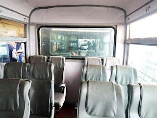 Glass walls in Darjeeling Toy Train