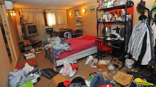 El desorden en el dormitorio se interpreta: no se tiene control sobre el análisis y manejo de las emocines