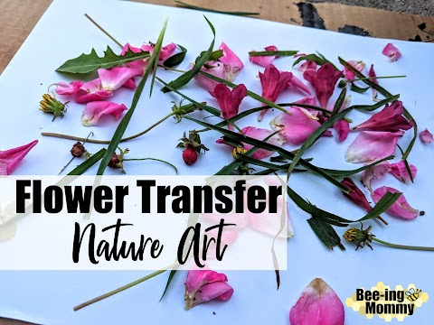 Flower Transfer Nature Art Activity, Hammer Away!