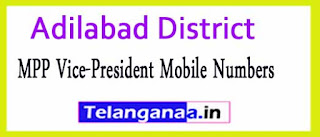 MPP Vice-President Mobile Numbers List Adilabad District in Telangana State