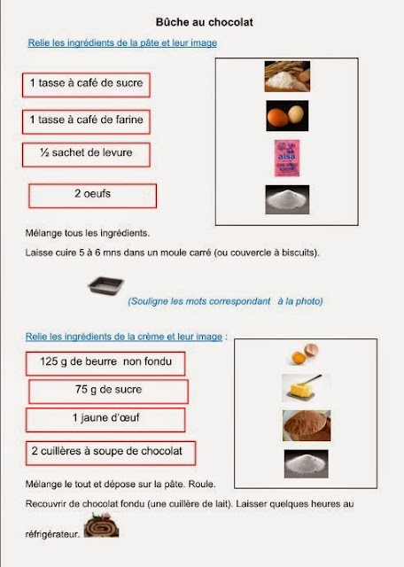 bûche chocolat -fiche lecture