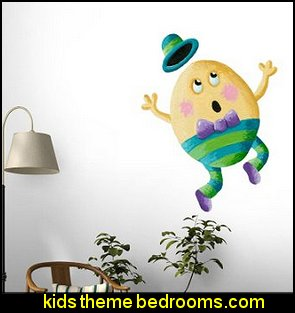 Humpty Dumpty Peel and Stick Fabric Wall Sticker