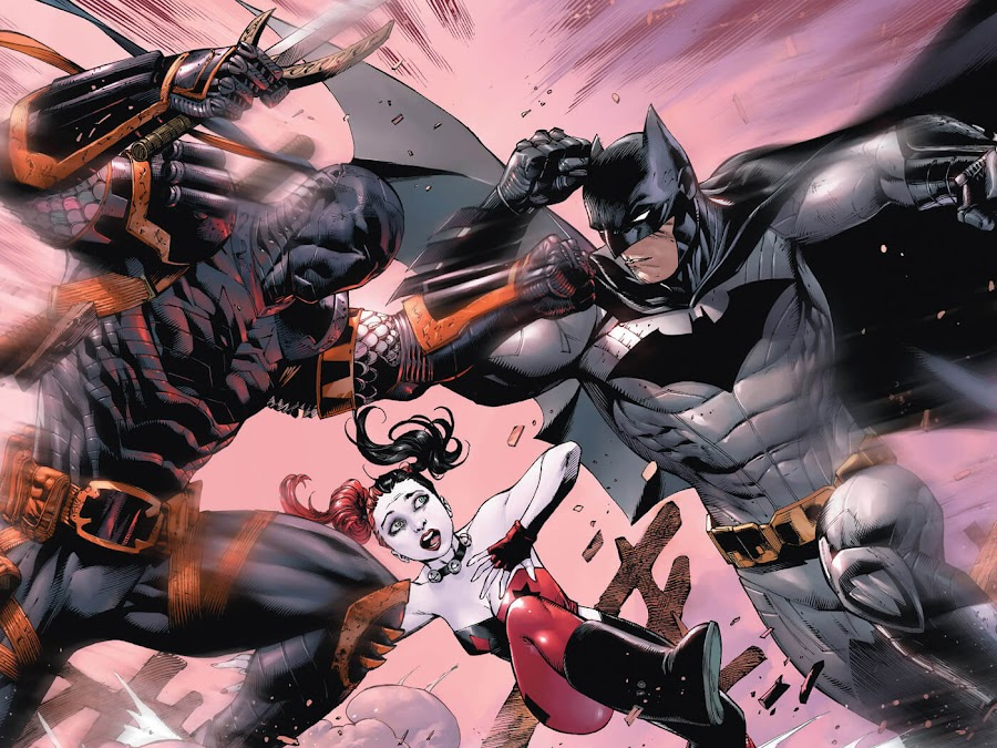 deathstroke vs batman dc comic