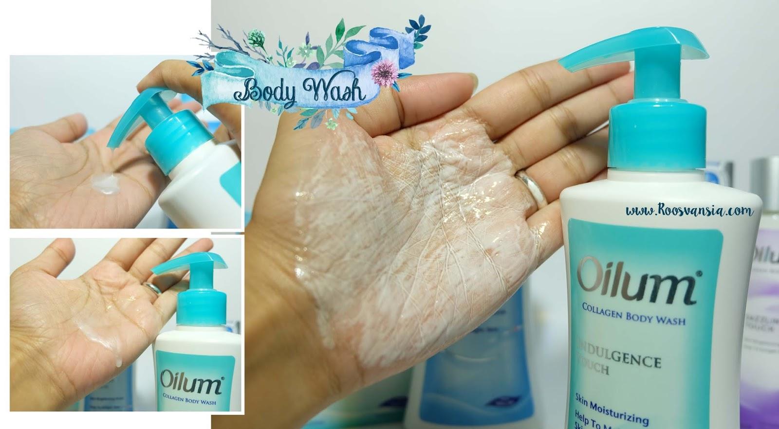 Oilum Collagen Skin Moisturizing Skin Brightening Series Soap Bar Body Wash Lotion Roosvansia