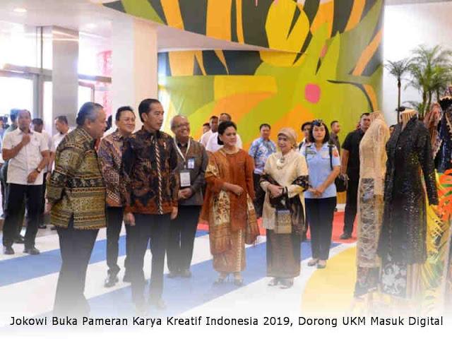 Jokowi Buka Pameran Karya Kreatif Indonesia 2019, Dorong UKM Masuk Digital
