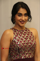 Actress Regina Candra Latest Stills in Maroon Long Dress at Saravanan Irukka Bayamaen Movie Success Meet .COM 0040.jpg