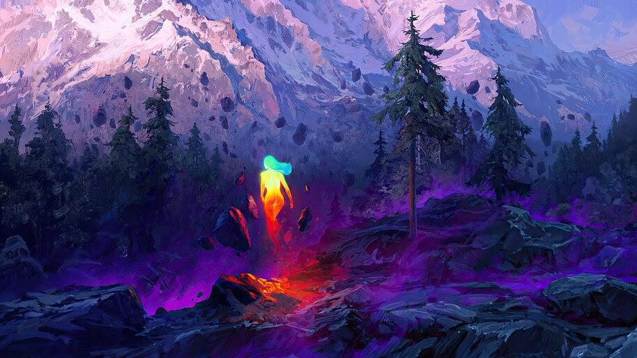 Fantasy, Nature, Mountain, Scenery, Digital Art, 4K, #6.1245