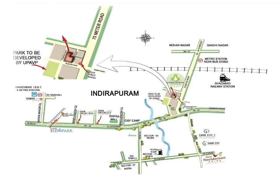 Gaur-siddhartham-location-map