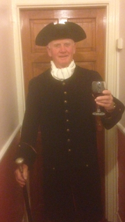 A fuzzy image of Gordon's dad