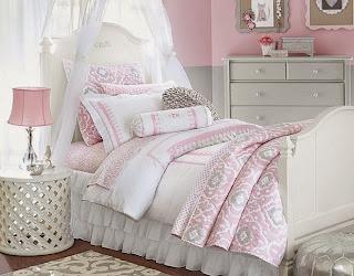 dormitorio en rosa y gris