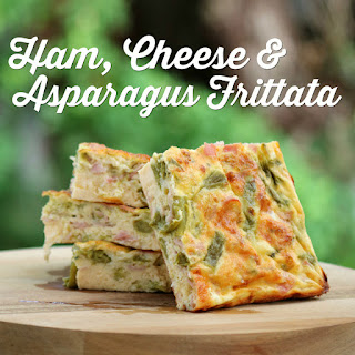 Healthy Ham Cheese and Asparagus Frittata Recipe