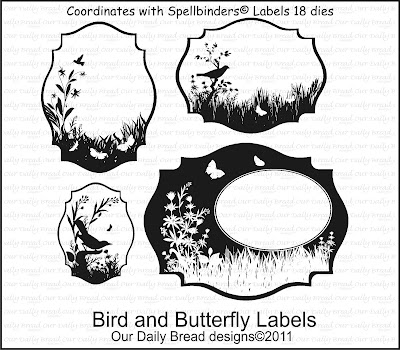 "ODBD  ""Bird and Butterfly Labels"""