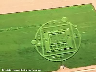 Mysterious Crop Circle Spotted in Salinas 12-31-13