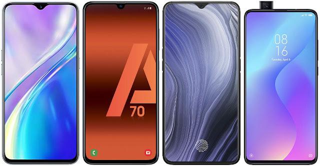 Realme X2 vs Samsung Galaxy A70 vs Oppo Reno Z vs Xiaomi Mi 9T 64G