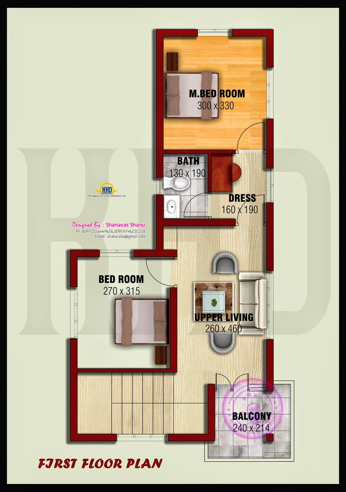 Small villa with floor plans - Kerala home design and ...
