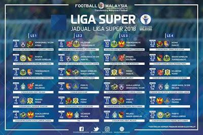 Jadual Perlawanan Kelantan Liga Super 2018
