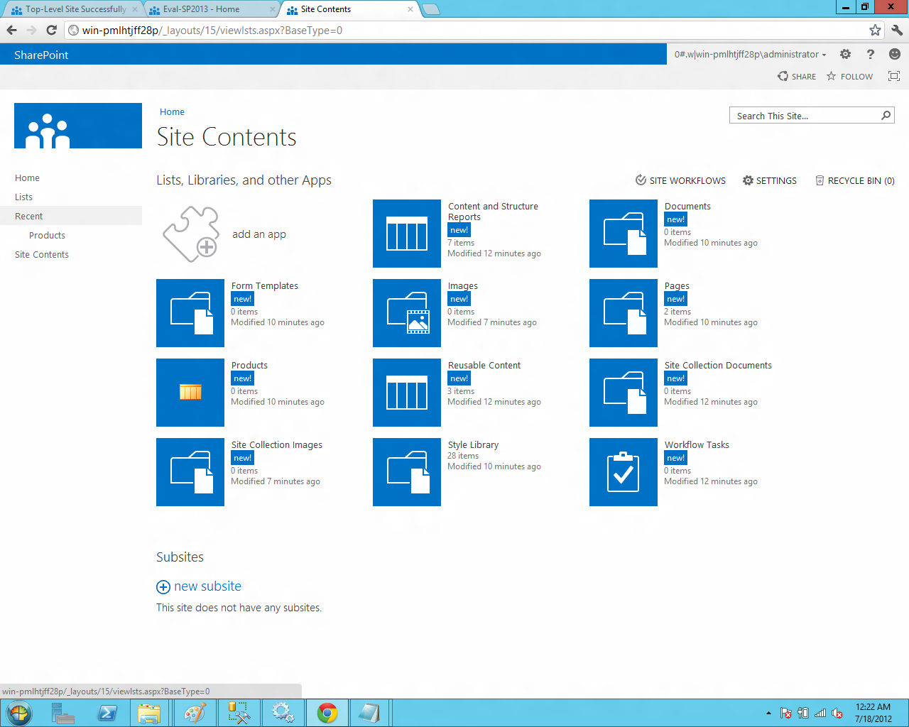 Bharath tech update installing sharepoint server 2013 as for Sharepoint 2013 product catalog site template