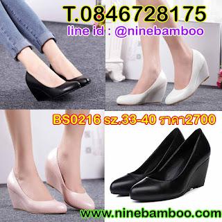 รองเท้าส้นเตารีดหนังแท้หุ้มส้นแฟชั่นเกาหลีนุ่มเพื่อสุขภาพเท้ารุ่นใหม่ ไซส์33-40 นำเข้า พรีออเดอร์BS0216 B2,700.00บาท