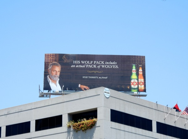 Dos Equis wolf pack billboard