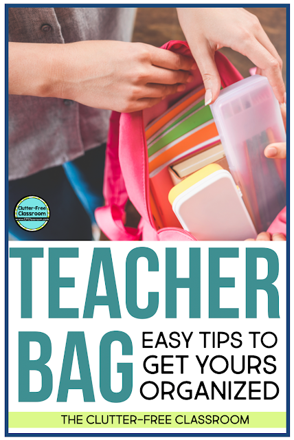 Do you have a messy teacher bag or crate that makes it difficult to find things? I offer free and simple tips and strategies to help with this problem in this blog post.