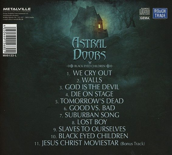 ASTRAL DOORS - Black Eyed Children [Ltd. Edition Digipak +1] (2017) back