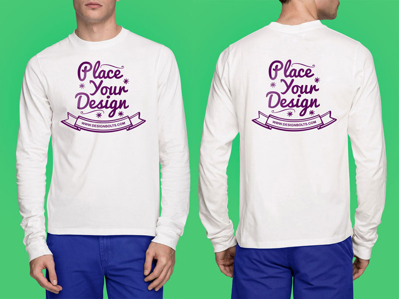 Long Sleeves T-shirt Mock-up