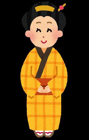 江戸時代の町民のイラスト(女性)