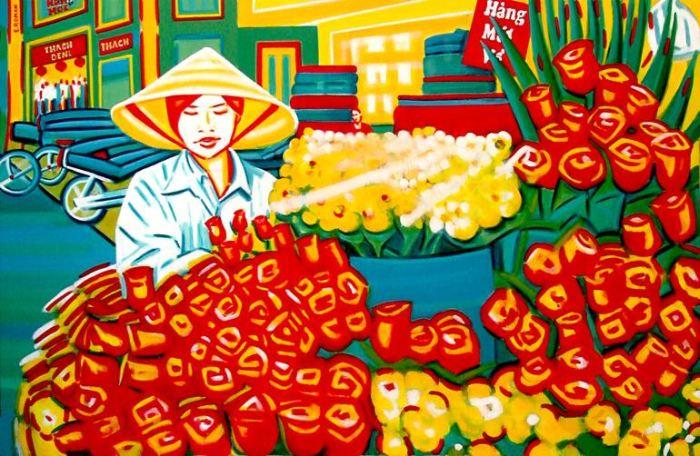 Перуанский художник. Elizabeth Roman