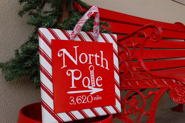 North Pole Sign Tutorial from iCandy!! Such a cute decor item that can be used inside or outside!