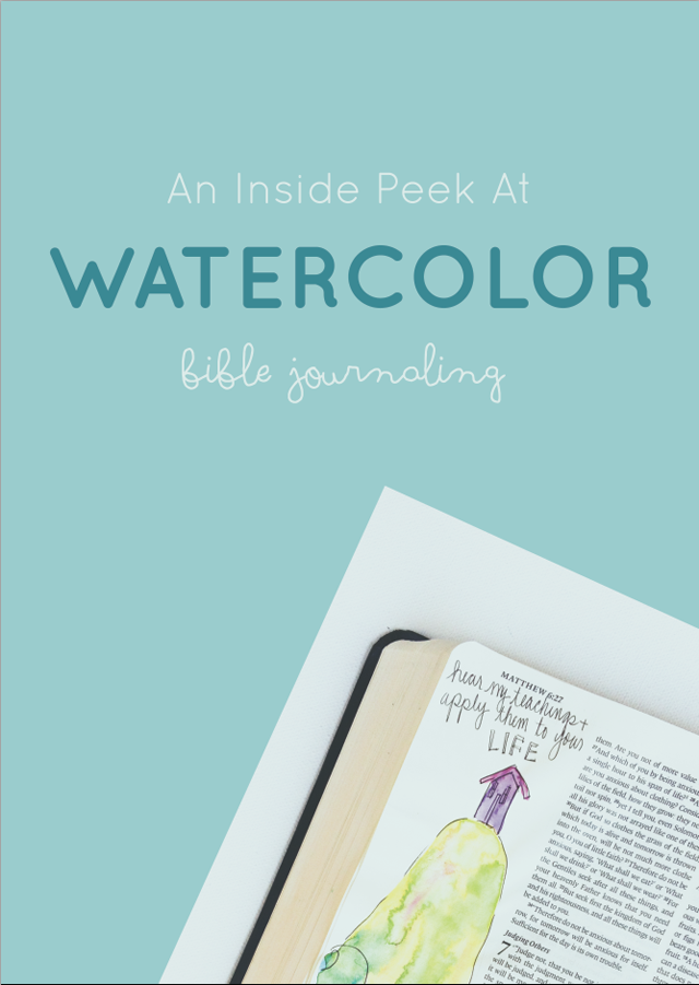 An Inside Peek at Watercolor Bible Journaling