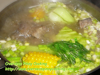 Nilagang Oxtail, Bulalo Style - Cooking Procedure