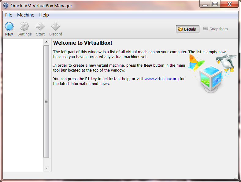 virtualbox screenshot